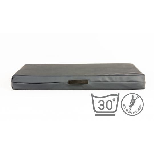 Matrace pelech šedá ekokůže 4XL 120x80cm 10cm vysoká