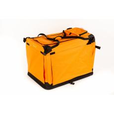 Kenelka, box cestovní, skládací COOL PET PLUS S oranžová 50*35*35cm
