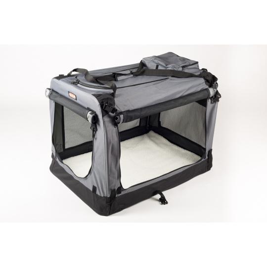 Folding box COOL PET PLUS S grey 49,5 x 34,5 x 35 cm