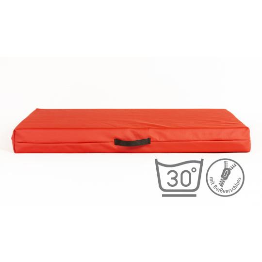 Matrace 10cm vysoká červená ekokůže 3XL 100x67cm