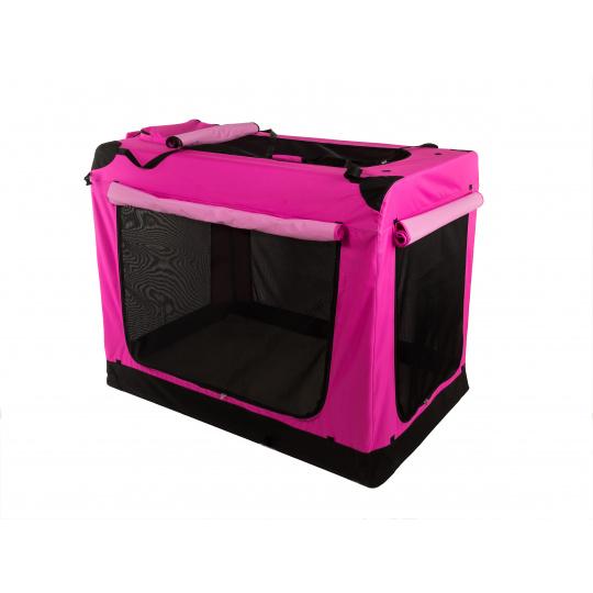 COOL PET PLUS folding carrying box  S pink 49,5 x 34,5 x 35 cm